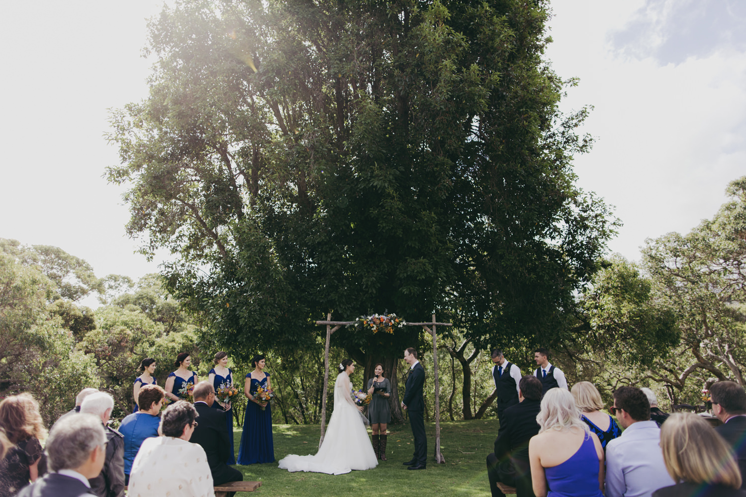 wedding ceremony at caves house